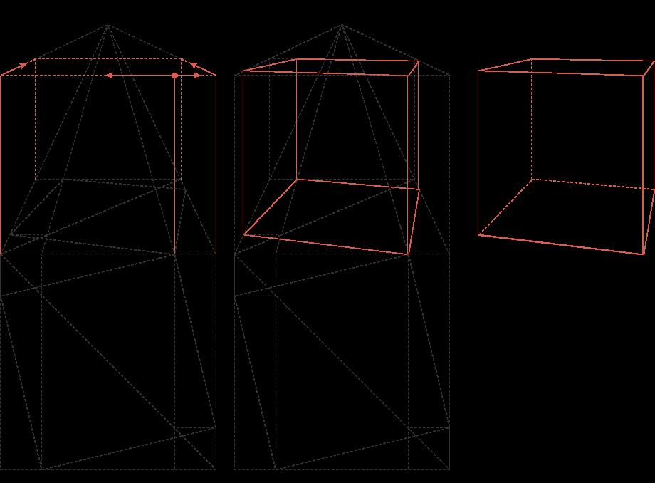 Perspektive eines Würfels 3