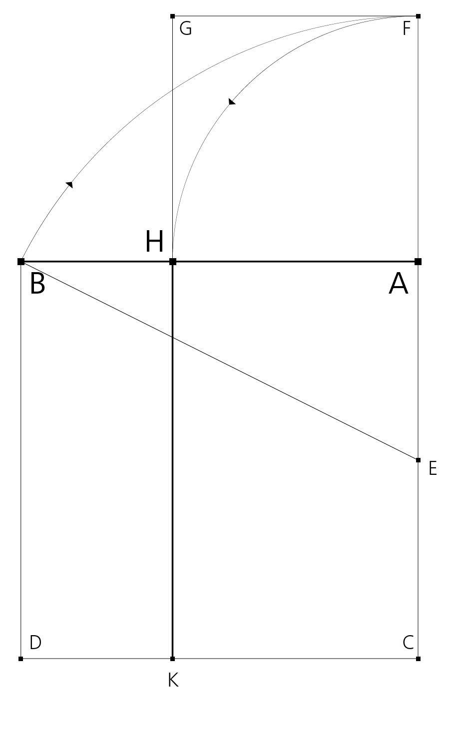 Euklid: 11. Satz, Lösung der Aufgabe